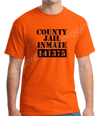 County Jail Inmate T Shirt Halloween Costume Tee Prison Funny T-shirt S-XXXL - Jail Halloween Costume