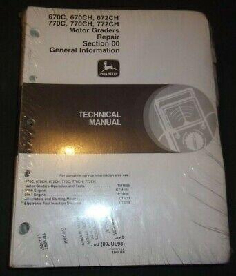 John Deere 670c 670ch 672ch 770c 770ch Technical Service Repair Manual Tm1607