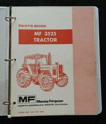 Original Massey Ferguson Mf 3525 Mf3525 Tractor Parts Catalog Manual Very Nice