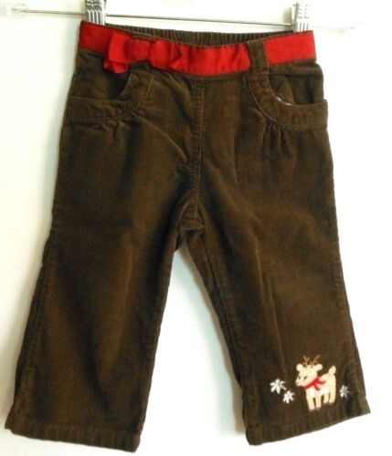 "Gymboree Holiday girl 12-18 m pants,""Reindeer"" brown corduroy"