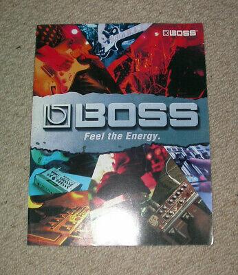 BOSS EFFECTS PEDALS 2004 CATALOGUE guitar collector custom studio display room segunda mano  Embacar hacia Mexico
