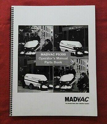 Madvac Ps300 Industrial Sidewalk Street Sweeper Broom Parts Operators Manual