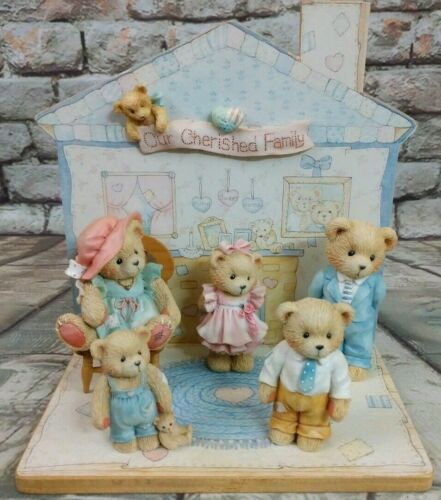 Enesco Cherished Teddies Our Cherished Family 6-Pc Collection Set Vintage 1993