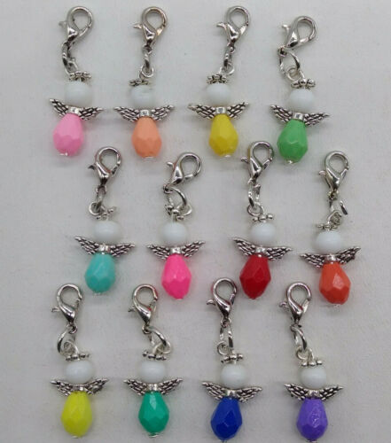 5 or 20pc Guardian Angel Zipper Pull/ Charms; Fun Colors; Gifts Party favors