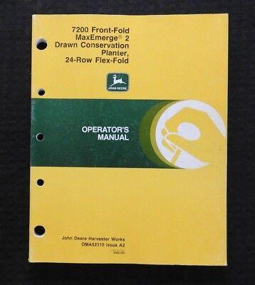 John Deere 7200 Maxemerge 2 Drawn 24-row Flex-fold Planter Operators Manual