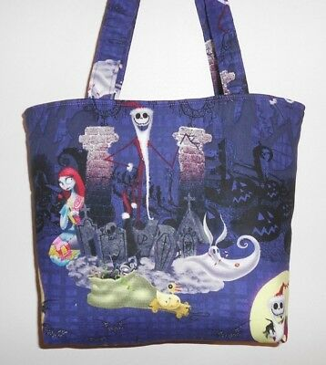 Handmade Halloween Nightmare Before Christmas Santa Jack Tote Purse Bag - Halloween Tote