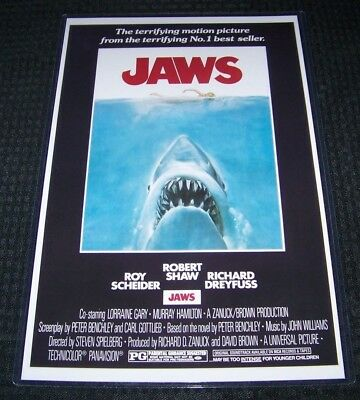 Jaws 11X17 Movie Poster Dreyfuss Shaw Scheider