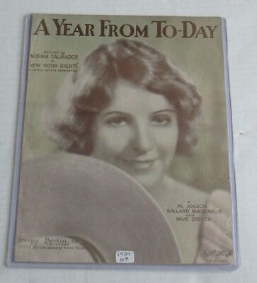Americana A Year From To-Day Sheet Music