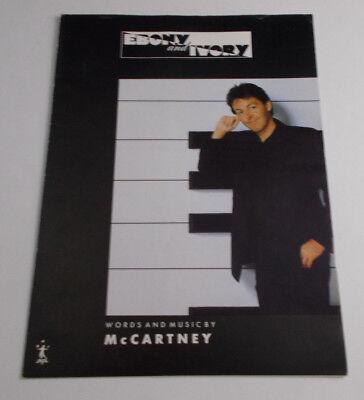 - PAUL McCARTNEY SHEET  MUSIC 'EBONY and IVORY' MPL unused