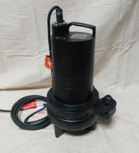 DAYTON 2 HP Manual Submersible Sewage Pump, 460 Voltage