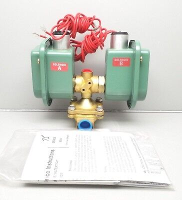 New Asco Hv2680001 3 Way Solenoid Valve Red Hat 10-125psi Air 12 Pipe