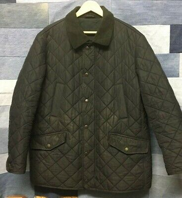 Mens Barbour Bardon Quilted Fleece Lined Jacket in Black - Size XL