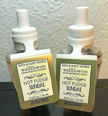 - Bath & Body Works HOT FUDGE SUNDAE Set Lot of 2 Wallflowers Refill Bulbs New