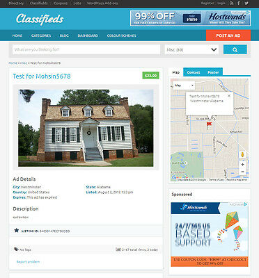 Classified Ads Website - Mobile Friendly