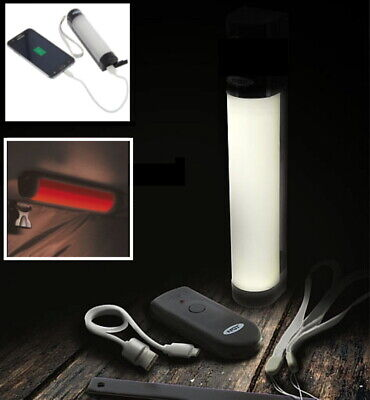 NGT Bivvy Light Powerbank with Remote Control Carp Fishing RED Night Lite
