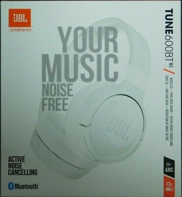JBL Tune 600 BTNC Bluetooth Noise Cancelling On-Ear Wireless Headphones - White