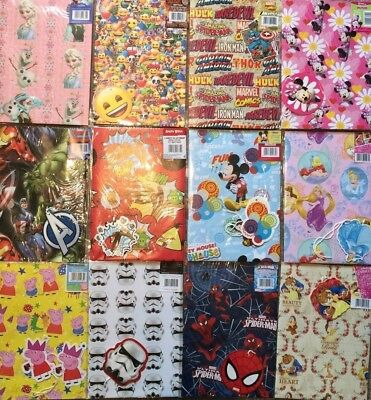 2 Wrapping Paper,Gift Tag Children's/kids STAR WARS,PEPPA PIG,THOMAS,MARVE LE10](Peppa Pig Wrapping Paper)