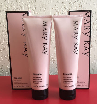 MARY KAY TIMEWISE 3 IN 1 CLEANSER - NORMAL TO DRY - 2 PACK - FREE SHIPPING