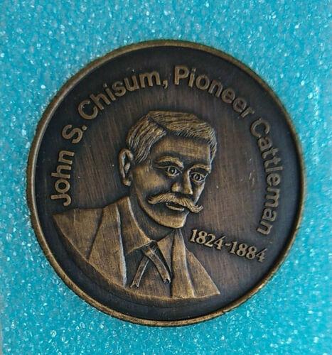 Roswell New Mexico Centennial Coin 1973 John S. Chisum Pioneer Cattleman