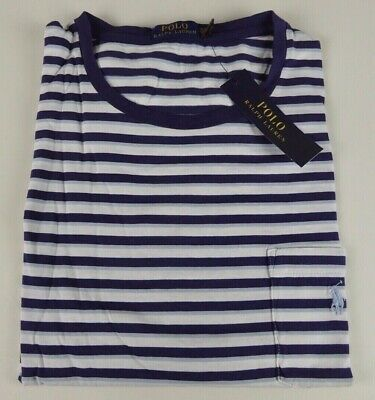 Polo Ralph Lauren 100% Cotton Striped Ringer Pocket T-shirt w/ Pony NWT $49.50