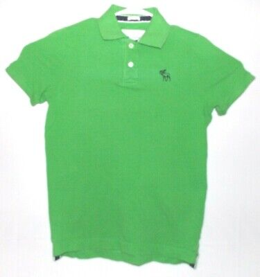 Abercrombie & Fitch Green Polo Shirt Short Sleeve Muscle Fit Medium