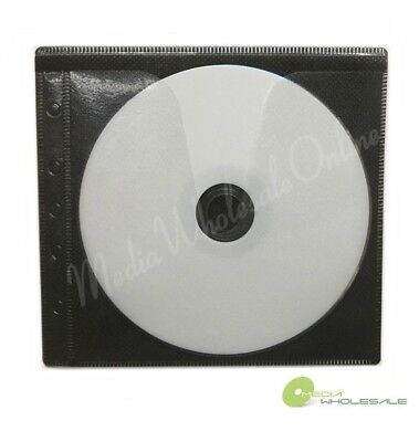 1000 Non Woven Cd Dvd Black Color Double Sided Plastic Sleeve - Hold 2000 Discs