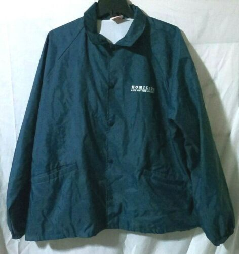 Homicide Life on the Street Jacket Mens 2XL XXL 1996 Windbreacker Rare Vintage