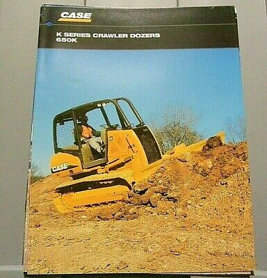 Factory 2003 Case K Series Crawler Dozers 650k Dealership Spec Brochure