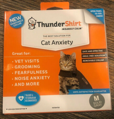 Thundershirt T02-HGM for Cat Anxiety - Color: Gray Size: Medium 9 - 13 lbs Cats