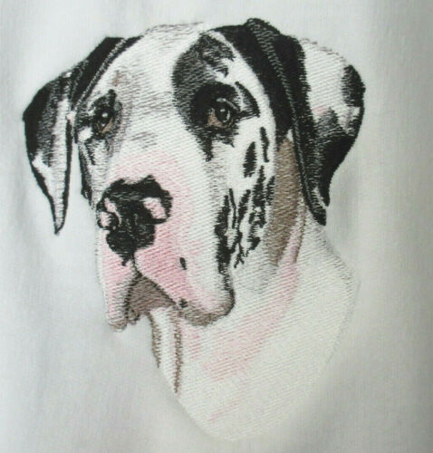 Embroidered Short-Sleeved T-Shirt - Great Dane BT3109 Sizes S - XXL