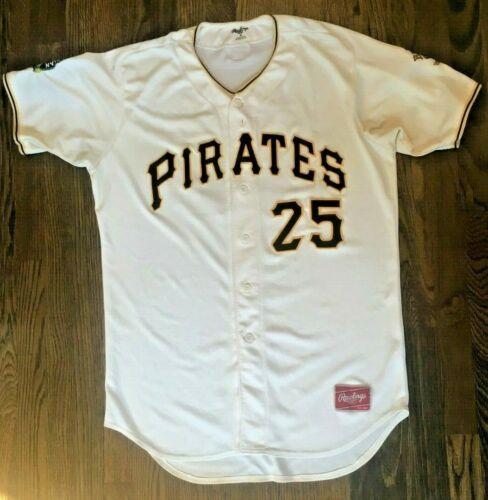 Bristol Pirates Game Worn Used White Jersey 2019 Luis Arrieta #25