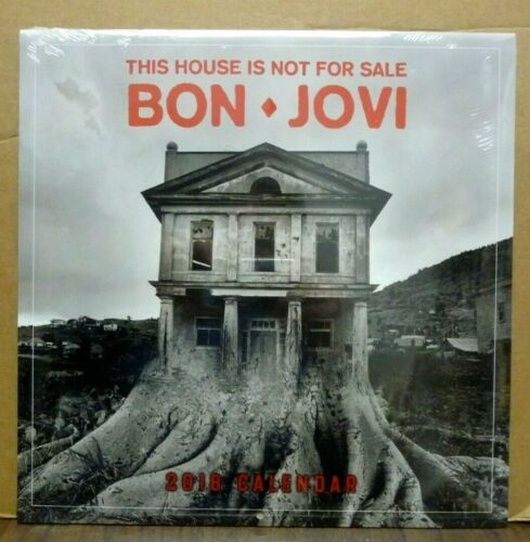BON JOVI This House Is Not For Sale 2018 CALENDAR Brand New & Sealed