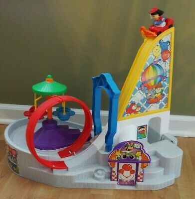 Fisher Price Little People Amusement Park Carnival Roller Coaster Car rides