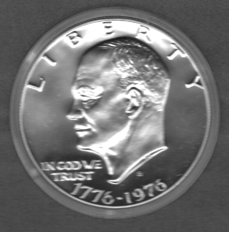 1976-S TYPE 1 PROOF EISENHOWER DOLLAR (COPPER/NICKEL CLAD)