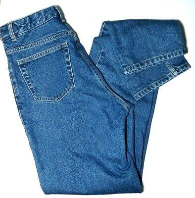 Lands' End Size 8 Tall Womens  Jeans 100% Cotton Hidden Stretch Waist 36