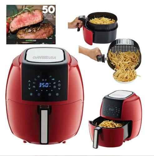 5.5 Liter 8-in - 1 Electric Air Fryer XL + 50 Recipes