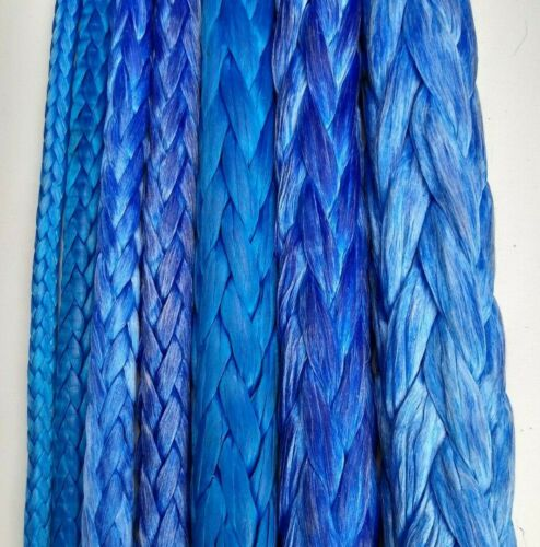 Dyneema Rope ( generic UHMWPE HMPE ) Winch pull line Coated 12 strand All sizes