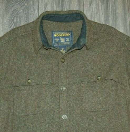 VTG Woolrich Cruiser Style Shirt/Jacket LARGE Wool Mackinaw Button-Front