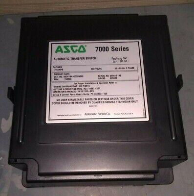 Asco D07atsa30070n500 7000 Series Automatic Transfer Switch 70 A Group 5 Control