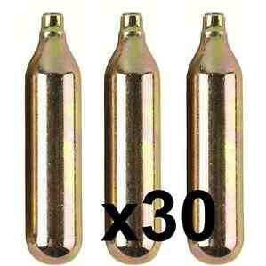 30x CO2 Bulbs 8g Non Threaded Home Brew Beer Pressure Bulb Keg Soda Siphon Gas
