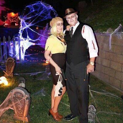 Women Pair Halloween Costumes (Couple's Men/Women Halloween costume ~ Bonnie and Clyde size 4-6 & men's)