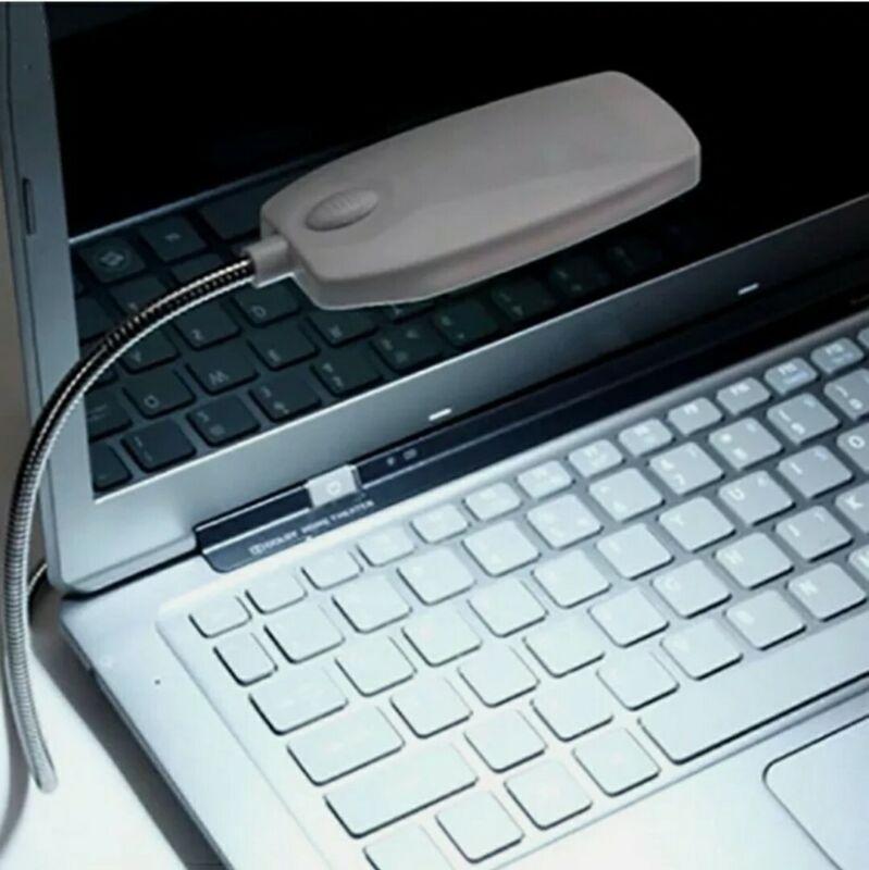 2 Pack Bright 28 LED USB Mini Light Flexible Computer Lamp Laptop Black/White x2