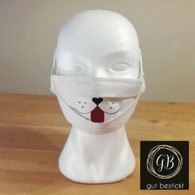 Mundschutz, Maske, Behelfsmaske, Hund, Hundeschnauze, beige, waschbar