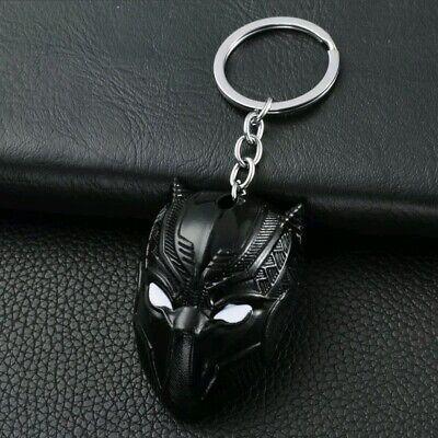 Schlüsselanhänger Maske Black Panther Marvel The Avengers Infinity War Schwarz  ()