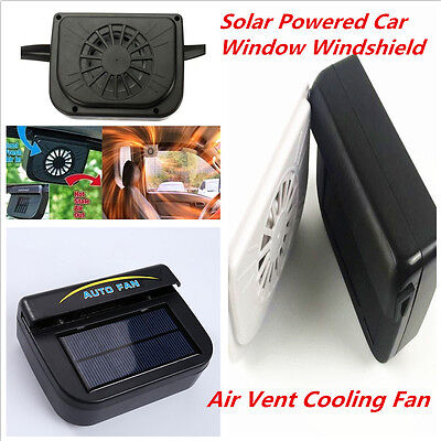 Solar Powered Auto Car Air Vent Cooling Fans Window Ventilation Radiator Systems - El Camino Radiator Auto Car