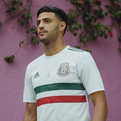*NEW* Adidas Mexico Men's Soccer Away Jersey White Red Green Football -