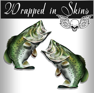Bass Fish Decals Large Mouth Bass Fish Stickers Tackle Box Vinyl Decals AFP-0029