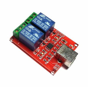 5V USB Relay 2 Channel Programmable Computer Control For Smart Home - UK seller