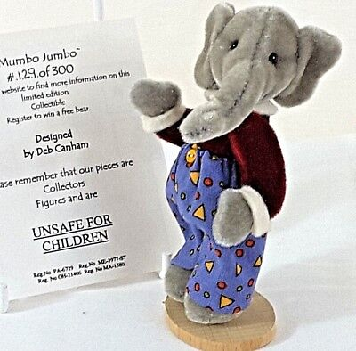Deb Canham Mumbo Jumbo Miniature Velvet Elephant Deb's Little Gems Collection LE