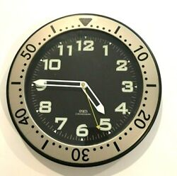 Wall Clock 515B Timekeeper Sports Chronograph 12 Luminous Hands and Numbers